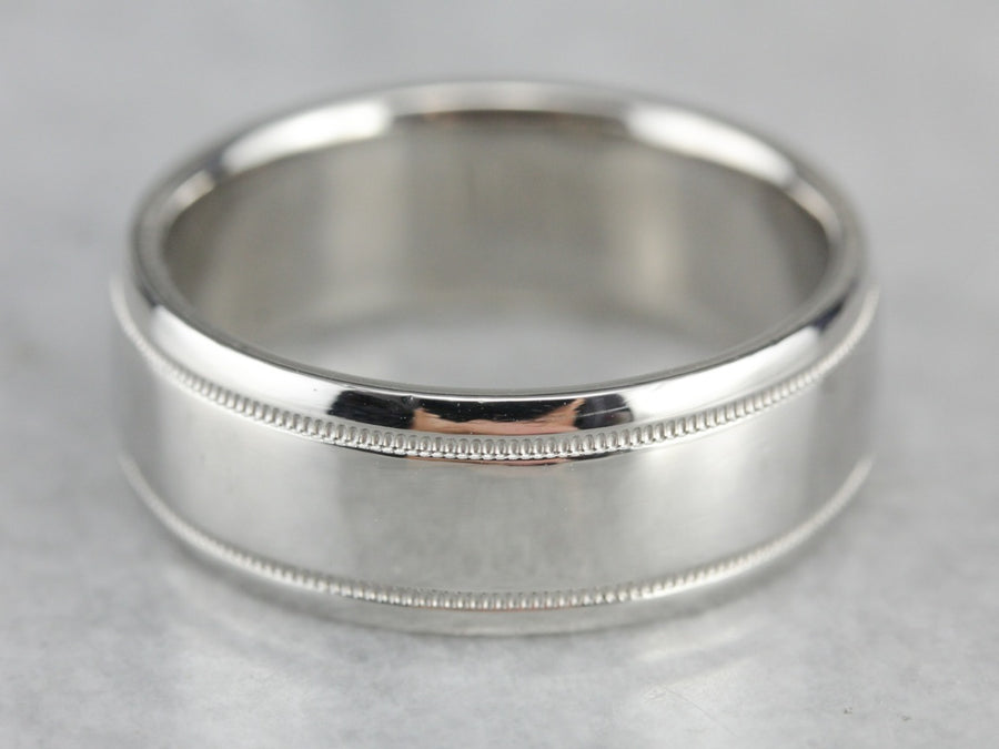 Men's Platinum Wedding Band