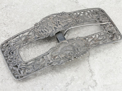 Antique German Silver Belt Buckle