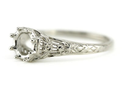 The Wreath Setting Semi-Mount Engagement Ring from The Elizabeth Henry Collection