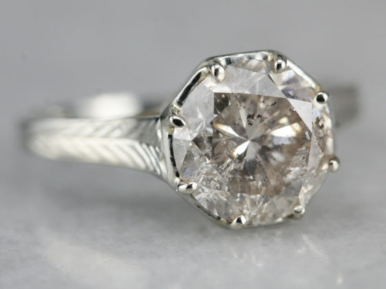 Art Deco Diamond Solitaire Engagement Ring | Final Payment