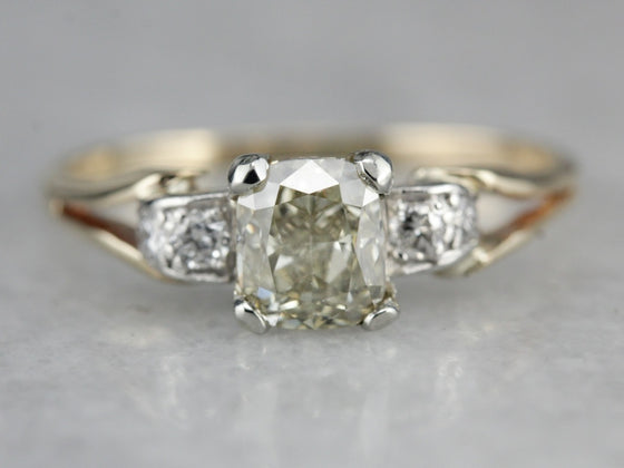 Rare Colored Diamond Engagement Ring