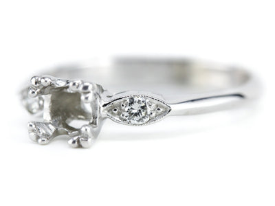 The Kirkland Diamond Setting Semi-Mount Engagement Ring from Elizabeth Henry