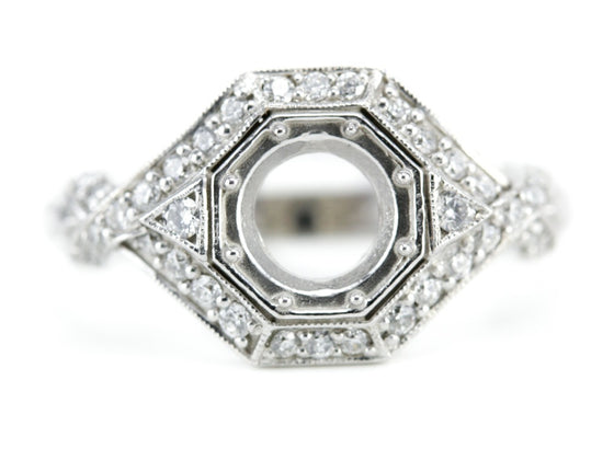 The Leigh Diamond Setting Semi-Mount Engagement Ring from Elizabeth Henry