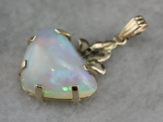 Trillion Cut Opal Pendant