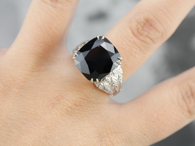 Spinel and Diamond Statement Ring