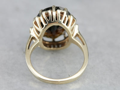 Dravite Tourmaline Cocktail Ring