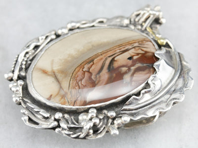 Biggs Picture Jasper Belt Buckle