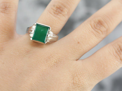 Green Onyx Statement Ring