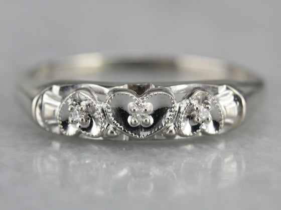 Vintage Diamond Heart Band