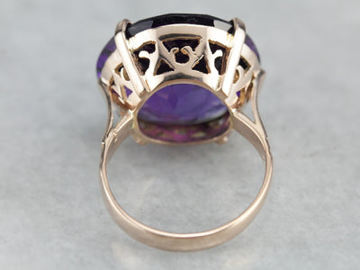 Rose Gold Amethyst Statement Ring