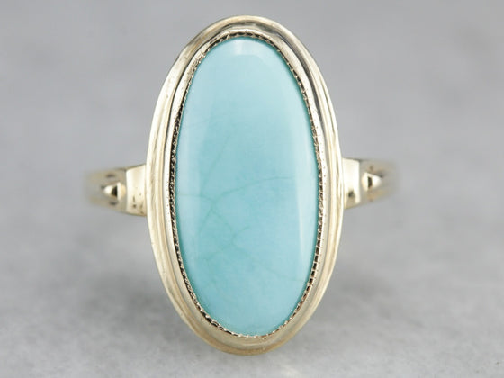 Vintage Turquoise Cocktail Ring