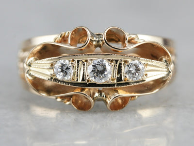Vintage Three Stone Diamond Ring