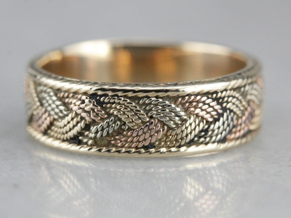 Vintage Braided Gold Band