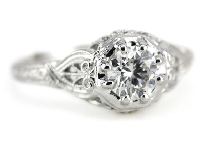 The Forrester Platinum and Diamond Engagement Ring from Elizabeth Henry