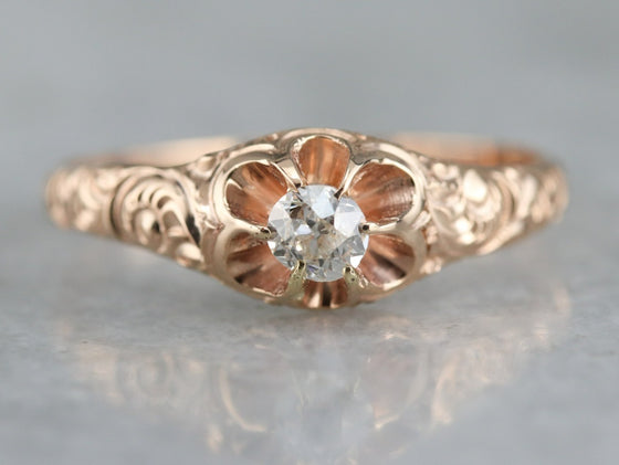 Victorian Old Mine Cut Diamond Engagement Ring