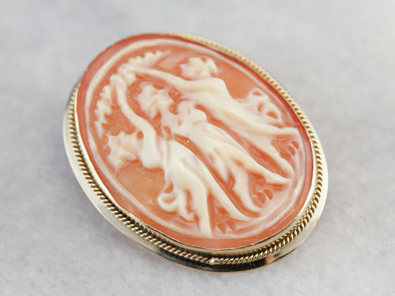 Vintage Three Graces Cameo Brooch or Pendant