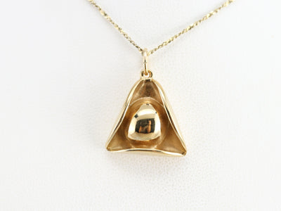 Vintage Gold Colonial Hat Pendant
