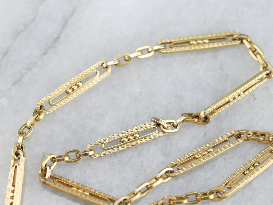 Oval Link Watch Chain