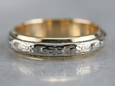 Vintaged Two Tone Pattern Band