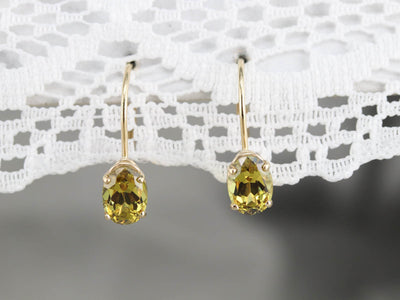Mali Garnet Drop Earrings