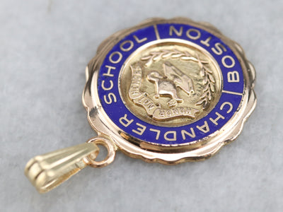 Vintage Boston's Chandler School Pendant