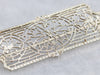 Art Deco Filigree Brooch