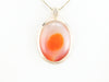 Yellow Gold Oval Agate Pendant