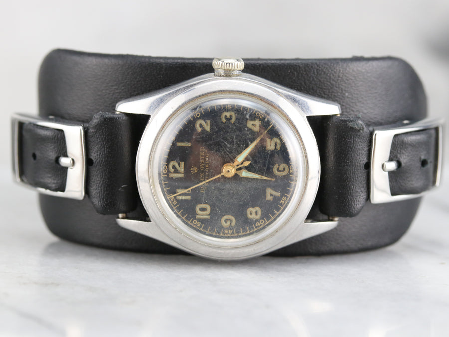 Retro Era Rolex Speed King Wrist Watch