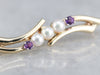 Vintage Pearl and Amethyst Brooch