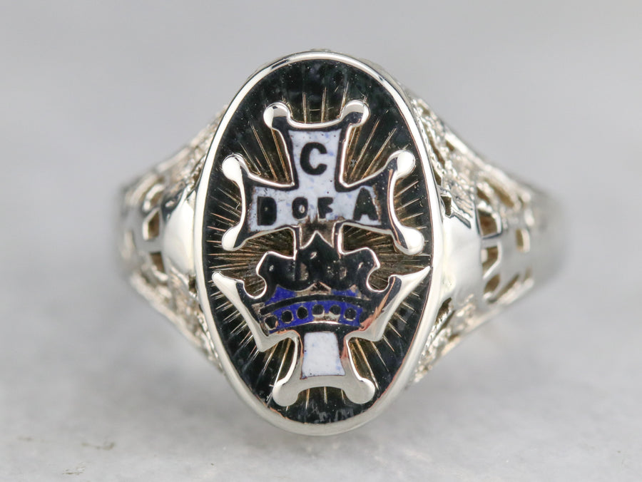 Vintage Catholic Daughters of the Americas Ring