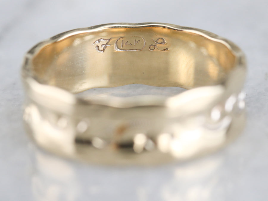 Moon and Stars Gold Pattern Band