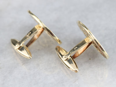 Vintage Gold Filigree Cufflinks