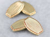 Yellow Gold Retro Era Cufflinks