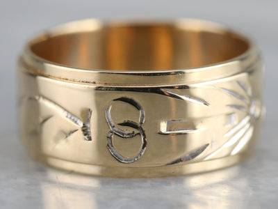 Religious Diamond Wedding Band