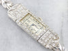 Vintage Diamond Platinum Ladies Wrist Watch