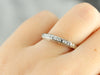 Thin Diamond White Gold Wedding Band