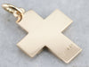 Unisex Gold Cross Pendant