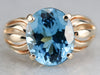 Blue Topaz Statement Ring