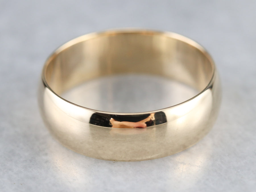 Vintage Gold Wedding Band