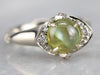 Cat's Eye Chrysoberyl White Gold Ring