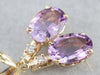 Amethyst and Diamond Drop Earrings
