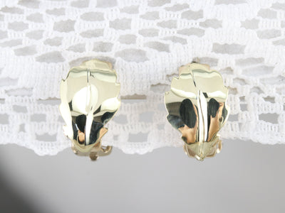 Mid Century Leaf Earrings