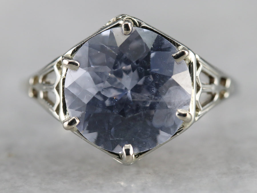Art Deco Sapphire Solitaire Ring
