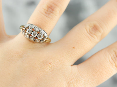 Vintage Multi Diamond Cocktail Ring