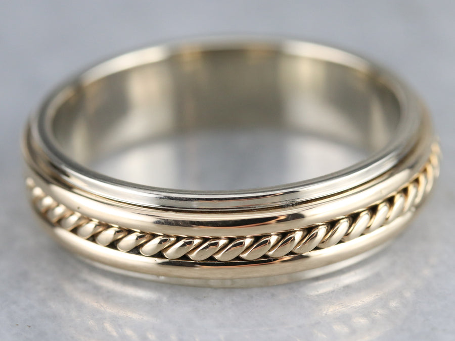 Men's Mixed Metal Rope Twist Band
