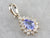 Tanzanite and Diamond Halo Pendant