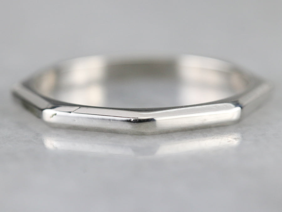 Octagon Shaped Platinum Band