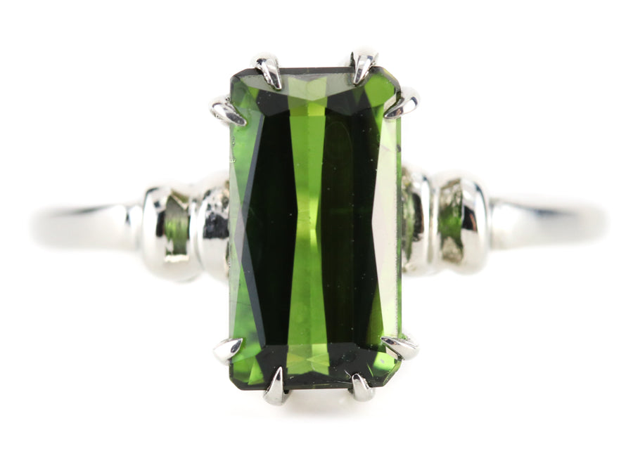 The Cleo Forest Green Tourmaline Ring by Elizabeth Henry