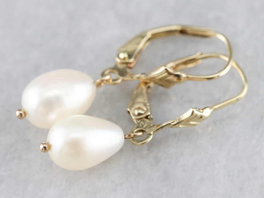 Classic Freshwater Pearl Drop Earrings
