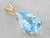 Yellow Gold Blue Topaz Solitaire Pendant